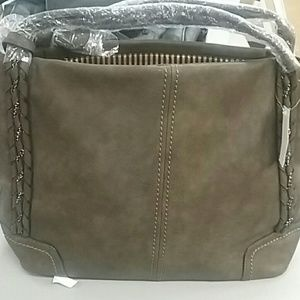mg collection Bags - MG Collection Slouchy Woven Handle Bag